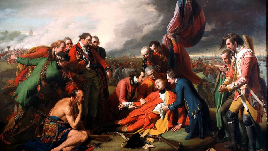 Es gibt Siege, über die man nicht froh werden kann: Bei der Einnahme von Québec fiel der britische General Wolfe.