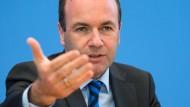 Für mehr Bürgernähe in der EU: EVP-Fraktionschef Manfred Weber