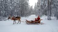 Dem Weihnachtsmann auf den Fersen