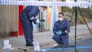 Ermittler am Tatort in Melbourne