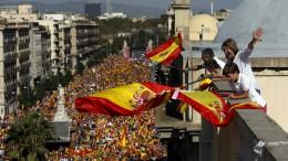 Proteste gegen die Unabhängigkeit Kataloniens