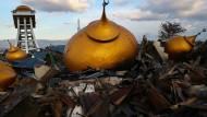 Zerstörte Moschee in Palu