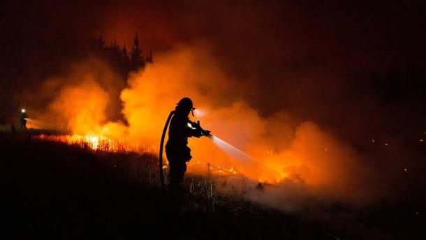Bewohner von Flammen eingeschlossen