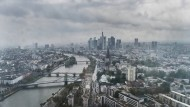 Hoch hinaus: Blick aus der 41. Etage der Europäischen Zentralbank in Frankfurt am Main