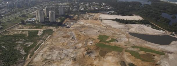 Das Areal des Anstoßes: Der neue Golfplatz ist eine abgeholzte Landschaft