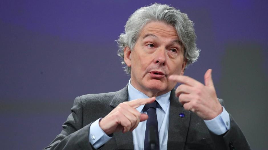 EU-Kommissar Thierry Breton am Mittwoch in Brüssel