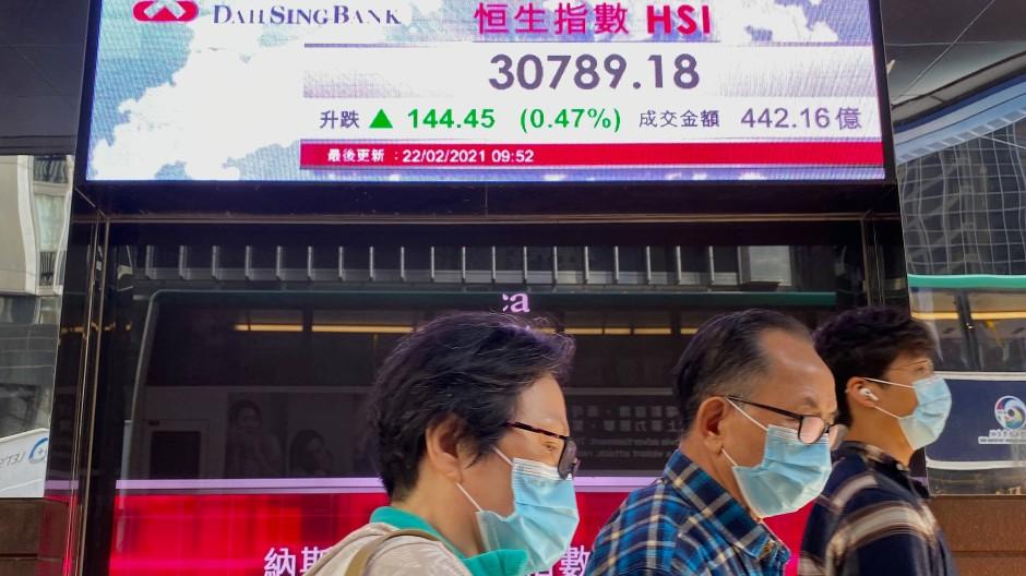 Auch in Hongkong trüben die Sorgen über eine steigende Inflationsrate die Hoffnungen auf eine schnelle Erholung der Wirtschaft von den Folgen der Pandemie.
