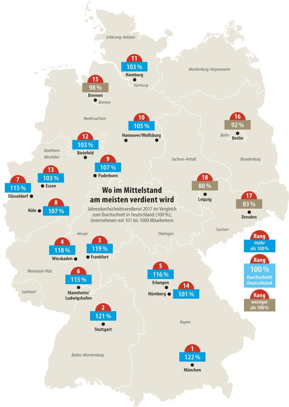 München Karte Deutschland.Bilderstrecke Zu Gehaltsatlas Wer Verdient Am Meisten Am Besten