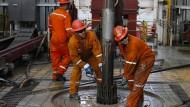 Ölarbeiter in Mexiko