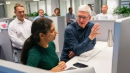 Apple CEO Tim Cook visits the Munich office