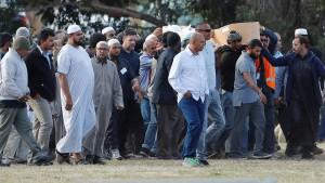 Erste Opfer von Christchurch beigesetzt