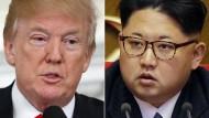 Wollen einander bald treffen: Donald Trump und Kim Jong-un
