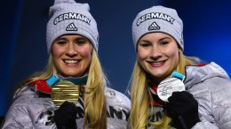 Gold und Silber für deutsche Rodlerinnen
