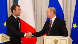Putin und Macron ziehen an einem Strang
