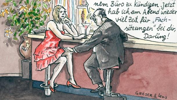 Karikatur / Greser und Lenz / Bayern nach der Gehaltsaffäre
