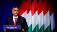 Viktor Orbán am Mittwoch bei einer Veranstaltung in Budapest