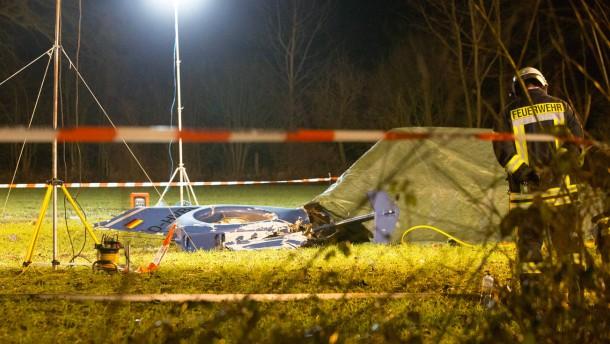 Zwei Tote bei Hubschrauber-Absturz