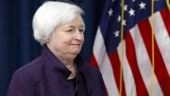 Eine Zinserhöhung steht an: Fed-Chefin Janet Yellen