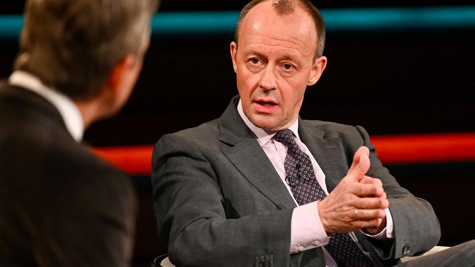 """Redefreudig: Friedrich Merz, Kandidat für den CDU-Vorsitz, am 13.1.2021 bei """"Markus Lanz"""""""