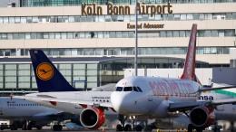 Loch in Rollbahn legt Flugverkehr in Köln lahm