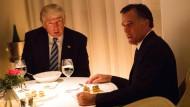 Auf einmal dicke Kumpel: Romney trifft Trump zum Abendessen