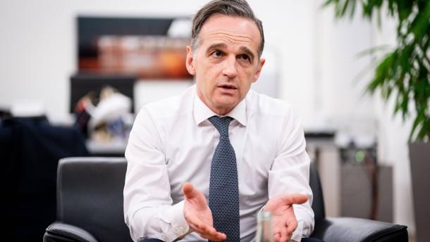 """Maas will mit Vereinigten Staaten """"Marshallplan für Demokratie"""" erarbeiten"""