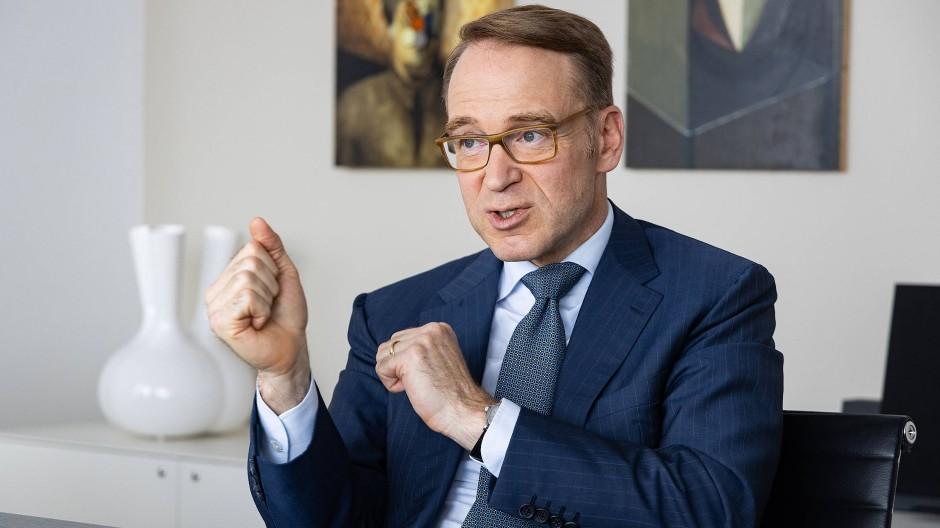 Jens Weidmann in seinem Büro in der Bundesbank