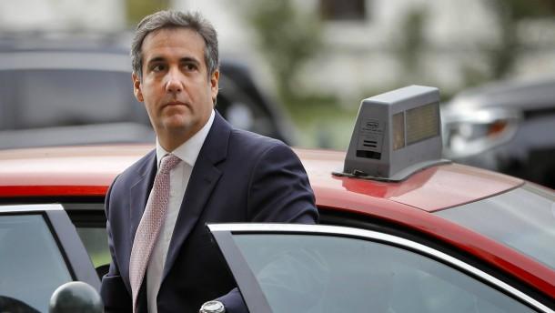 Cohen will offenbar über kriminelle Handlungen Trumps aussagen