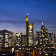 Bankentürme in der Skyline von Frankfurt am Main