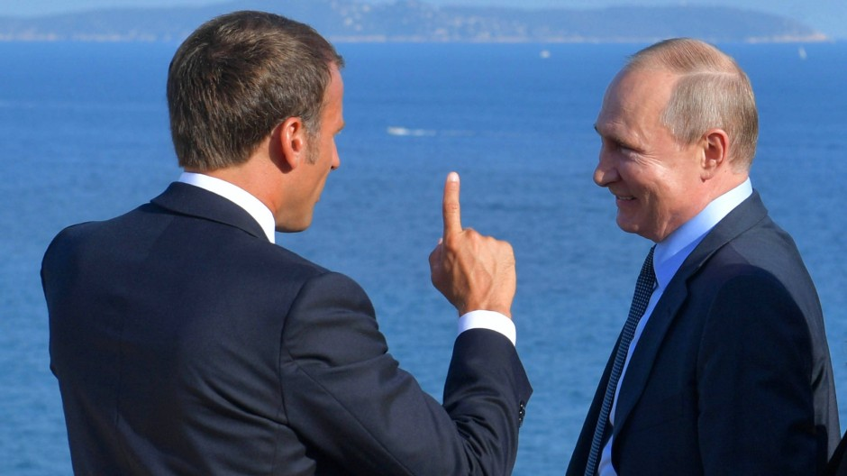 Macron empfing Putin diese Woche in Fort Brégan.