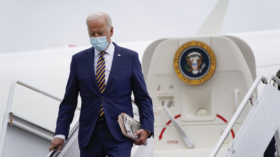 Präsident Joe Biden am Freitag