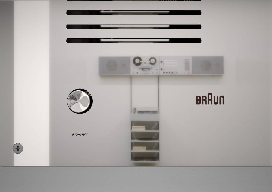 """Zum Jubiläum von Braun: Designer Virgil Abloh entwirft die """"Wandanlage"""" neu."""