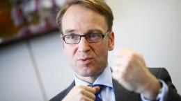 Weidmann signalisiert Bereitschaft für EZB-Chefposten