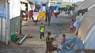 Flüchtlingslager von vertriebenen Jesiden im Nordirak.