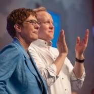 CDU-Vorsitzende Annegret Kramp-Karrenbauer mit dem Vorsitzenden der Jungen Union Tilman Kuban.