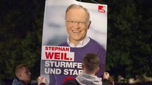 SPD in Umfragen knapp hinter CDU