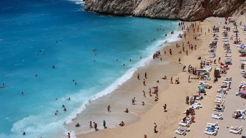 Wieder mehr Touristen: Kaputas-Strand in der südwestlichen Türkei