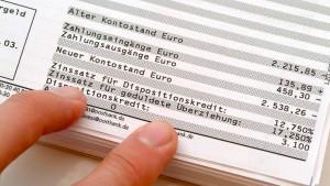 Banken warnen Kunden nach Kontoüberziehung
