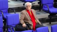 Auch er verlässt den Bundestag: Der Abgeordnete der Grünen, Hans-Christian Ströbele