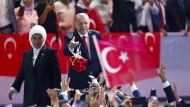 Emine und Recep Tayyip Erdogan beim Parteikongress Mitte August.
