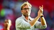 Erst zufrieden, dann deutlich: Klopp und Liverpool besiegen Barcelona 4:0.
