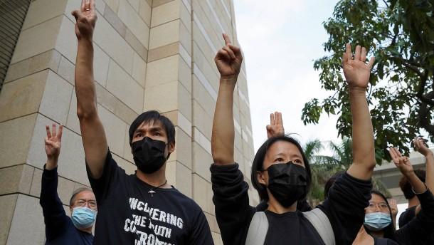 Behörden in Hongkong klagen 47 Aktivisten an