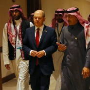 Konzentriert in Riad: der deutsche Bundesfinanzminister Olaf Scholz und sein Kollege aus Saudi-Arabien, Mohammed al-Jadaan