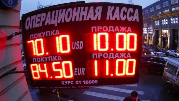 Rubel-Verfall belastet Aktienkurse