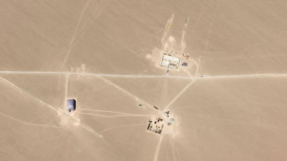 Wüstenbaustelle: Hier baut China neue Abschussvorrichtungen