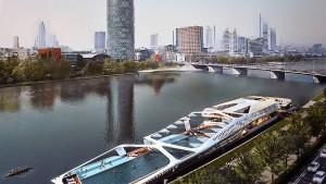 Frankfurts Badeschiff droht der Untergang