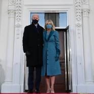 Ziel erreicht: Joe und Jill Biden vor dem Weißen Haus
