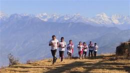 Training am Fuße des Himalaya