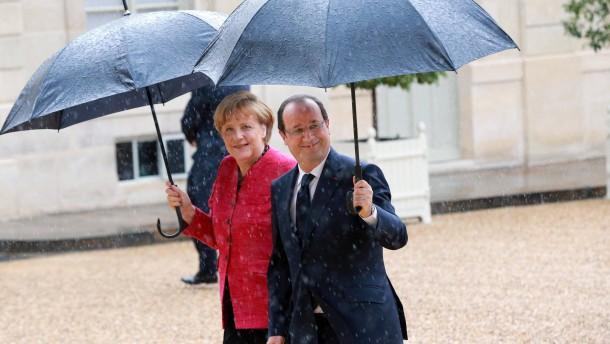 Den Schirm teilen sie nicht