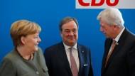 Armin Laschet (Mitte) ist aussichtsreicher Kandidat für den Vorsitz der CDU.